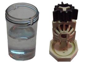 контейнер от раствора Aosept Plus HydraGlyde для очистки линз