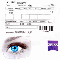Zeiss Single Vision Mineral 1.5 Umbramatic Brown Gold ET